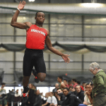 Terrel Davis, a 2016 Beacon grad, set a University of Hartford record on Jan. 27 with a long jump of 24 feet, 1.5 inches. (UH Athletics)