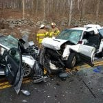 Three people were injured in a head-on crash in Philipstown. (GVFC photo)