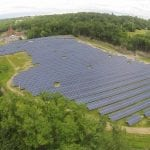 An aerial view of the solar farm at the former Beacon landfill, which should be up and running next month   	(BQ Energy)