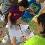 Students take part in a drawing exercise as part of an Arts 10566 program. (Photo provided)