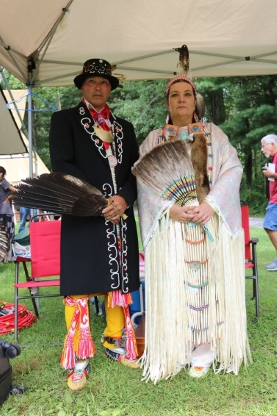 Chris Clair, _Mourning Dove,_, Cherokee, Weatherly PA and Joseph Clair, _White Eagle_, Miq Mak, Elsipogtag Reservation, New Brunswick Canada  pow wow