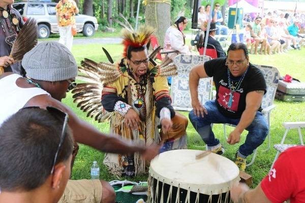 Drumming  pow wow
