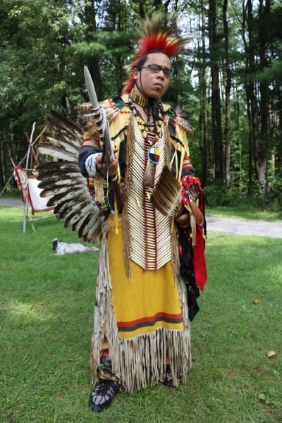 Victor Cheeseman, _Dancing Crow,_ Aztec-Sioux, Redding PA  pow wow