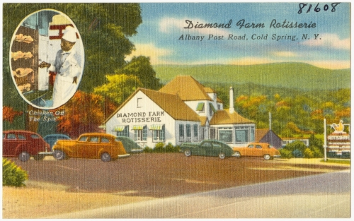 diamond farm rotisserie postcard