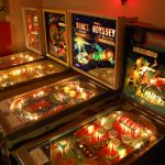 The four pinball machines inside the Retro Arcade Museum in Beacon, which closed in 2010 (Photo by Fred Bobrow)