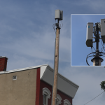 A small-cell antenna in Newark (Verizon)