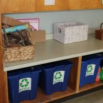The students learn how to sorting into the correct recycling bin.