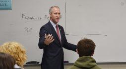 Maloney Leads Haldane Government Class
