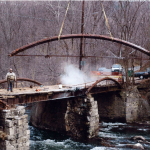 The dismantling of the bridge in 2006 (Photo by John Fasulo/BHS)