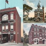 Antique postcards show, clockwise from left, the Lewis Tompkins Hose Co., Beacon Engine Co. and Mase Hook and Ladder. (Beacon Historical Society)