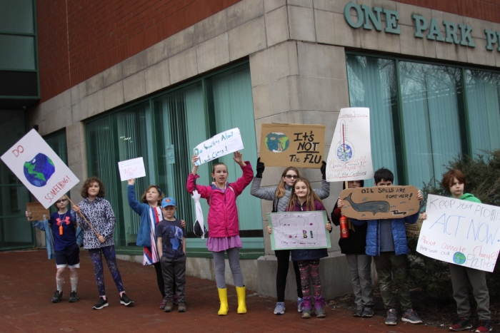 4th and 5th Graders Strike for Climate4