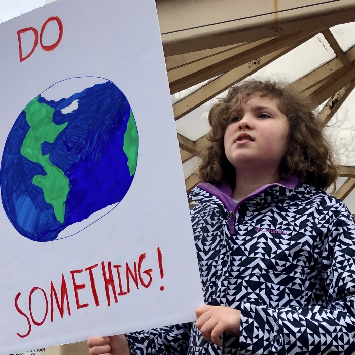 4th and 5th Graders Strike for Climate5