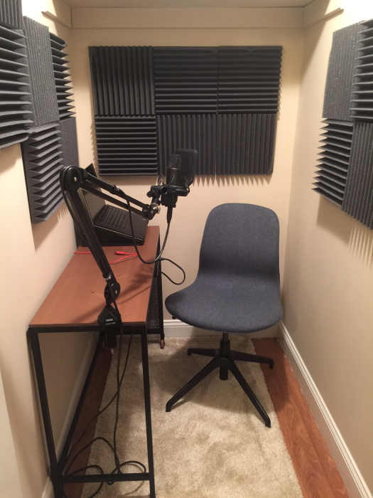 Greg Cayea's podcast nook