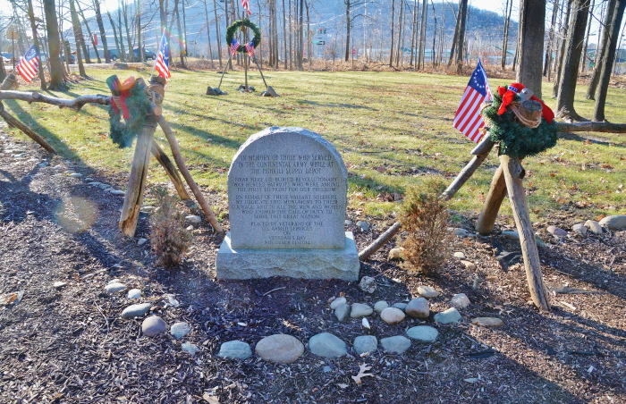 The developer said he would preserve a memorial site on the property created by the Friends of the Fishkill Supply Depot. (File photo)