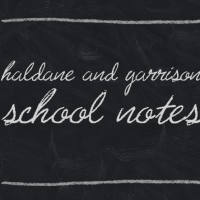 Haldane and Garrison School Notes