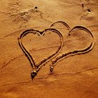 hearts in sand