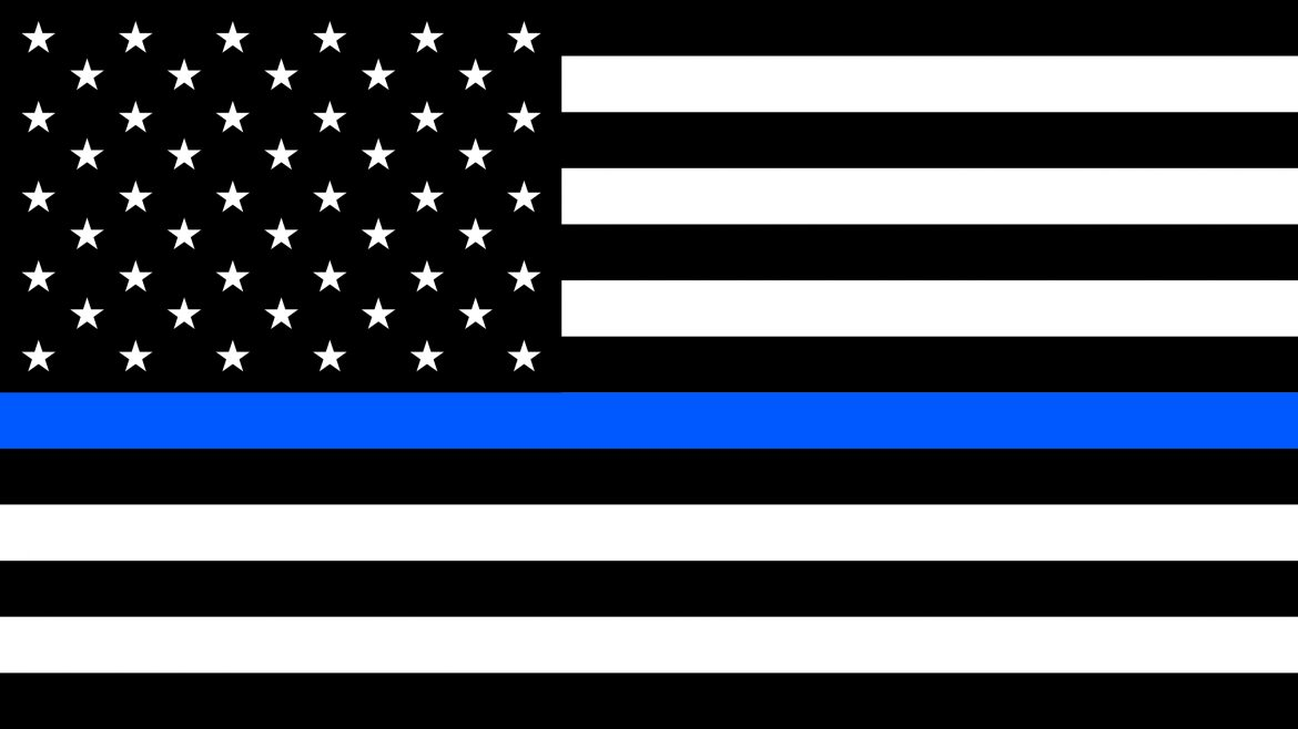 thin-blue-line flag