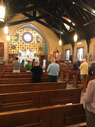half-full church