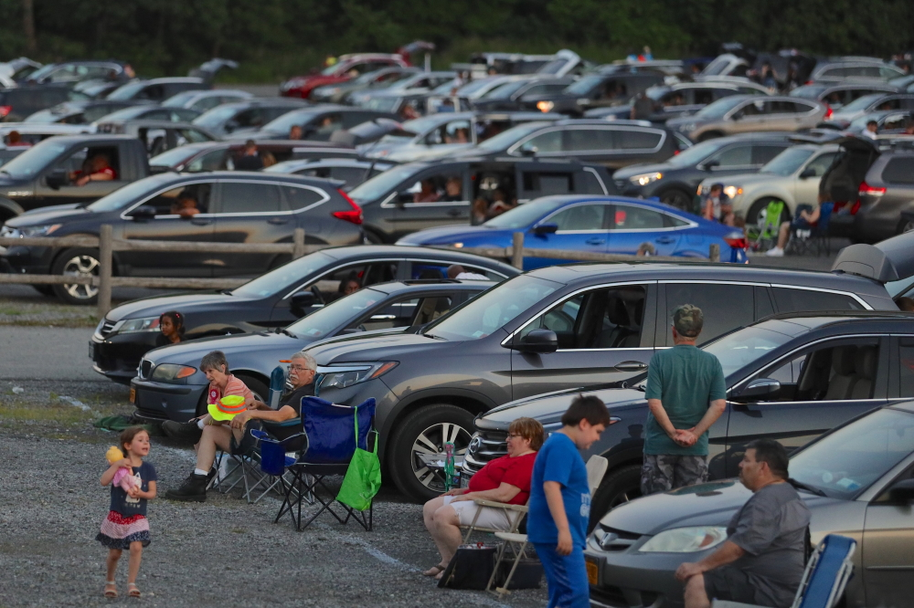 cars at fireworks