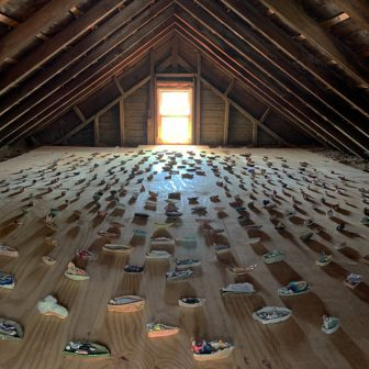 """About Forever,"" an ongoing installation in Sascha Mallon's attic in Beacon"