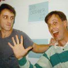 Adam Osterfeld (right) with Steve Burns,