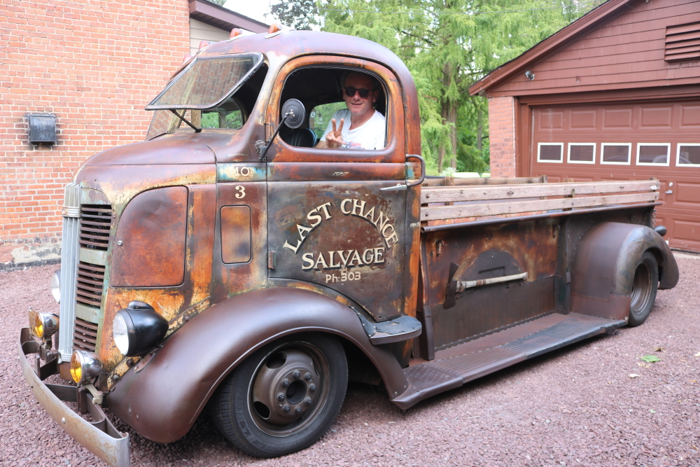 Adam and his 1937 Cab-Over