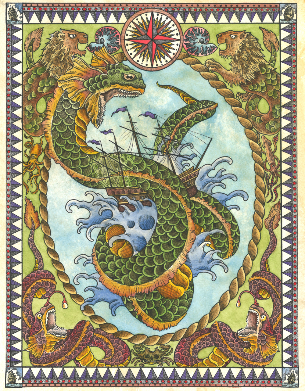 Sea Serpent Ship Battle