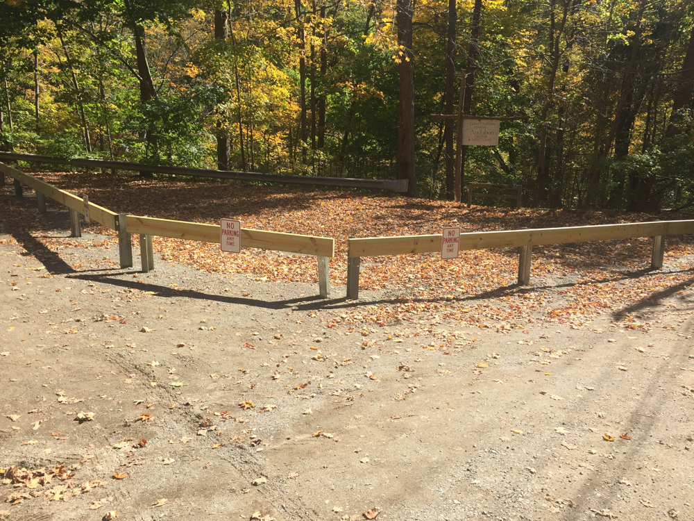 Philipstown has erected a barrier to block off its parking lot near Constitution Marsh.