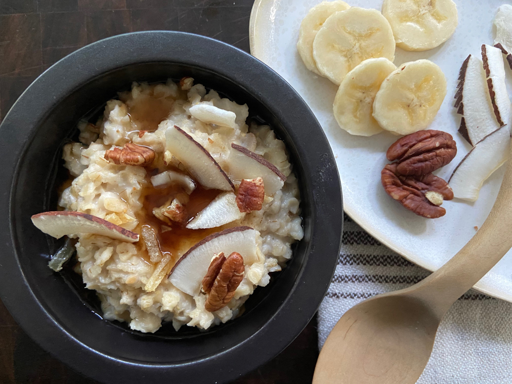 Maple Ginger Coconut Oatmeal