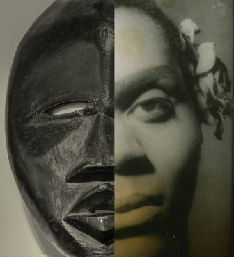 A pairing of a Deangle wood mask by an unknown Mande artist with a Carl Van Vechten photo of Claude Marchant