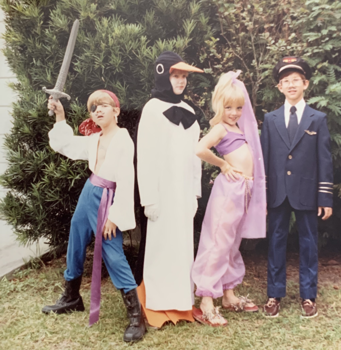 Brent Lagerman (penguin) and siblings, Florida, 1980s