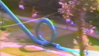 A water slide that ended with a loop