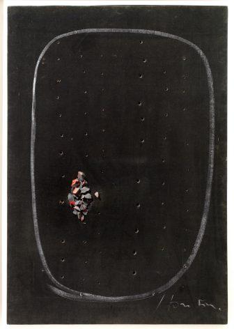 """""""Concetto spaziale,"""" by Lucio Fontana"""