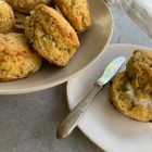 Jalapeño-Cheddar-Green Tomato Biscuits