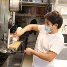 Manny prepares mussels marinara