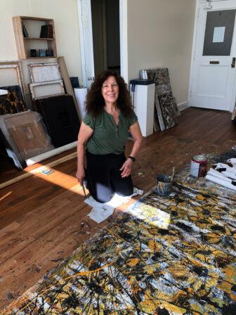 Ilse Scheiber-Noll in her studio