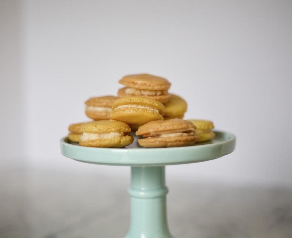 platter of macarons