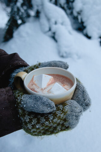 Hot coco and mittens