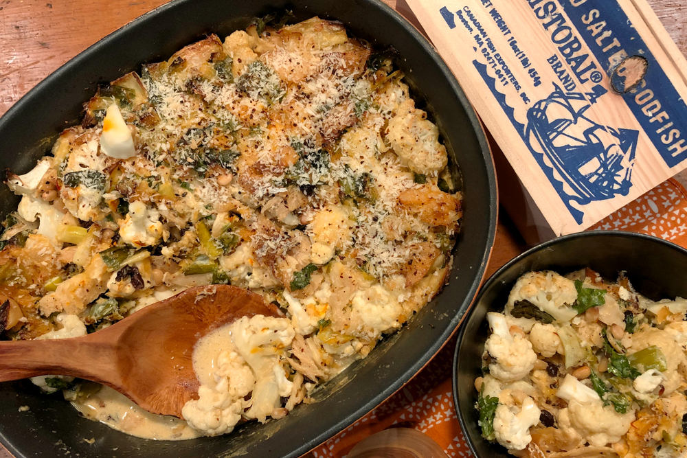 Sicilian Salt Cod and Cauliflower