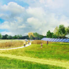 "A rendering of the path and ""solar ribbon"" the Desmond-Fish Library would like to install in Garrison."