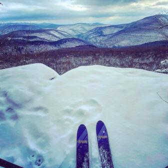 McGuire on skiis