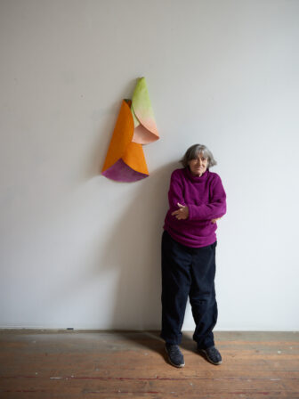 """Susan Weil with """"Flower Folds,"""" from 1991"""