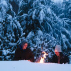 Winter fire pit