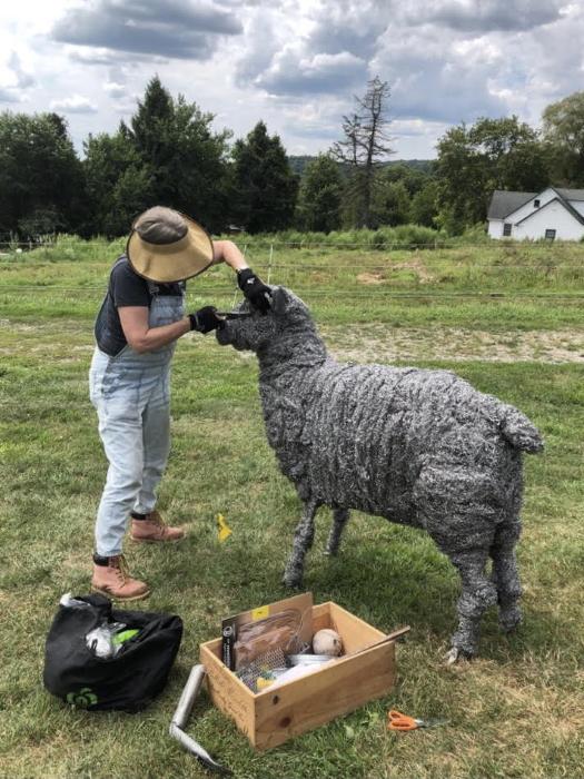 Wool sculpture