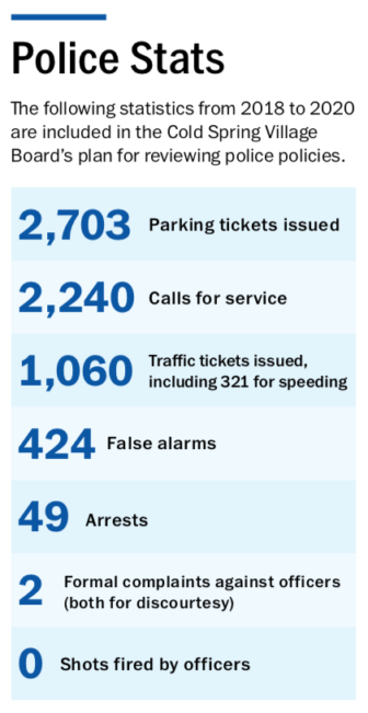 Cold Spring police stats