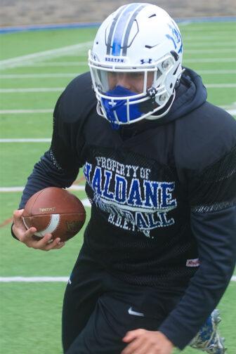 Haldane quarterback Dan Santos