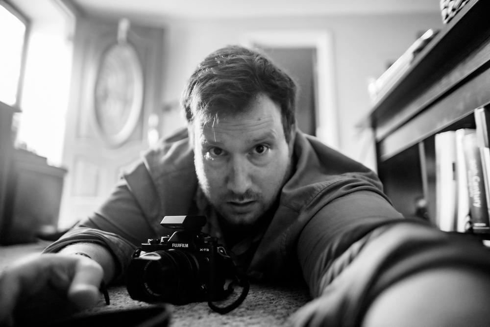 Robert Lundberg, in a self-portrait