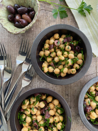 Chickpea and Black Olive Salad