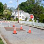 Pine Street sewer repair