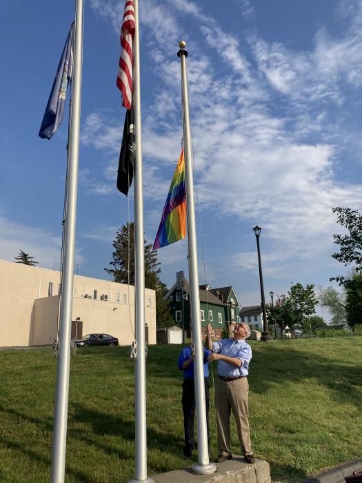 Beacon flag raising